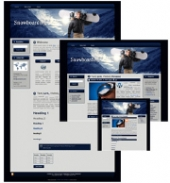 Snowboarding - WP Theme Template with private label rights