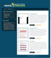 Magic Tricks Review Site Template with private label rights