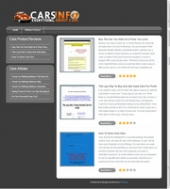 Cars Review Site Template with private label rights