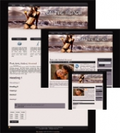 On the Beach 02 - WP Theme Template with Master Resale Rights