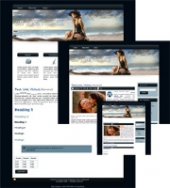 On the Beach 03 - WP Theme Template with Master Resale Rights