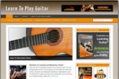 Learn Guitar Blog Template with private label rights