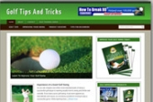 Golf Blog Template with Personal Use Rights