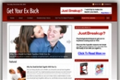 Get Your Ex Back Blog Template with Personal Use Rights