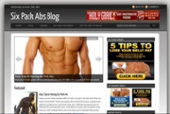 Six Pack Abs Blog Template with Personal Use Rights