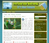 Solar Wind Energy Site Template with private label rights