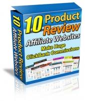 10 Product Review Affiliate Websites Template with Master Resale Rights