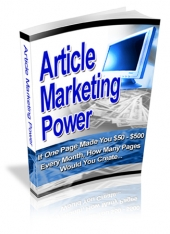 Article Marketing Power eBook with Resale Rights