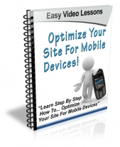Optimize Your Website For Mobile Devices eBook with Personal Use Rights