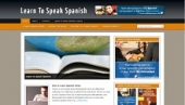 Learn To Speak Spanish Blog Template with Personal Use Rights