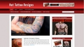Hot Tattoo Designs Blog Template with Personal Use Rights
