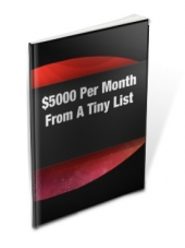 $5,000 Per Month From A Tiny List eBook with Master Resale Rights