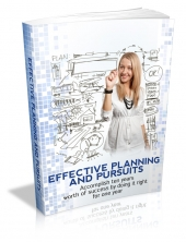 Effective Planning And Pursuits eBook with private label rights