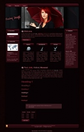Red Rain Theme Template with Master Resale Rights