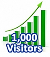 1,000 Visitors In One Month eBook with Master Resale Rights