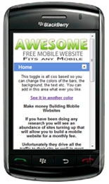 Mobile Template Template with Master Resale Rights