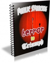 Public Speaking Terror To Triumph eBook with Private Label Rights