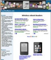 Wireless eBook Readers Website Template with private label rights
