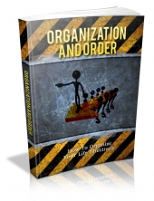 Organization And Order eBook with private label rights