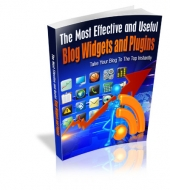 The Most Effective And Useful Blog Widgets And Plugins eBook with private label rights