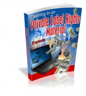Cashing In On Private Label Rights Material eBook with Master Resale Rights