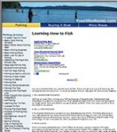Fishing Website Template with private label rights
