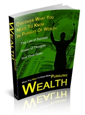 What You Need To Know When Pursuing Wealth eBook with Private Label Rights