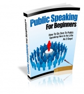 Public Speaking For Beginners eBook with Private Label Rights