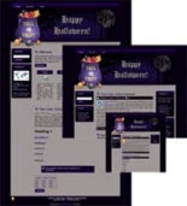 Halloween Site Template 3