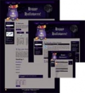 Halloween Site Template 3 Template with private label rights