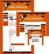 Halloween Site Template 2 Template with private label rights