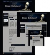 Halloween Site Template 1 Template with private label rights