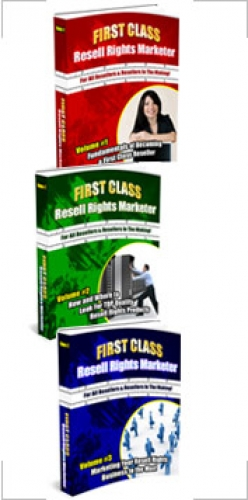 First Class Resell Rights Marketer : Triple Pack