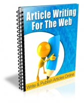 Article Writing For The Web eBook with Private Label Rights