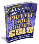 Private Label Rights Gold eBook with Master Resell Rights