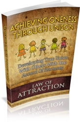 Achieving Oneness Through Unison eBook with Master Resale Rights