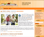 Thanksgiving Wordpress Themes Template with Master Resale Rights