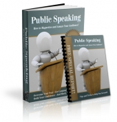 Public Speaking eBook with Private Label Rights