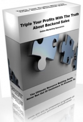 Triple Your Profits With The Truth About Backend Sales eBook with Private Label Rights