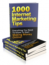1000 Internet Marketing Tips eBook with Private Label Rights