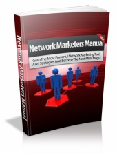 Network Marketers Manual eBook with private label rights