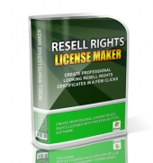 Resell Rights License Maker Software with Master Resell Rights