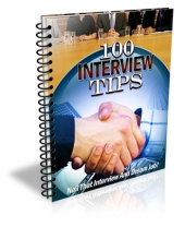 100 Interview Tips eBook with Master Resell Rights