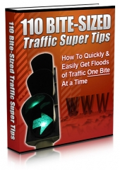 110 Bite-Sized Traffic Super Tips eBook with Master Resell Rights