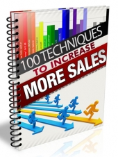 100 Techniques to Increase More Sales eBook with Master Resell Rights