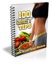 100 Diet Tips eBook with Master Resell Rights