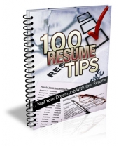 100 Resume Tips eBook with Master Resell Rights