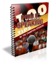 100 Public Speaking Tips eBook with Master Resell Rights