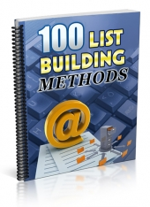 List Building Methods eBook with Private Label Rights