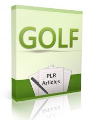 10 Golf PLR Articles Gold Article with Private Label Rights